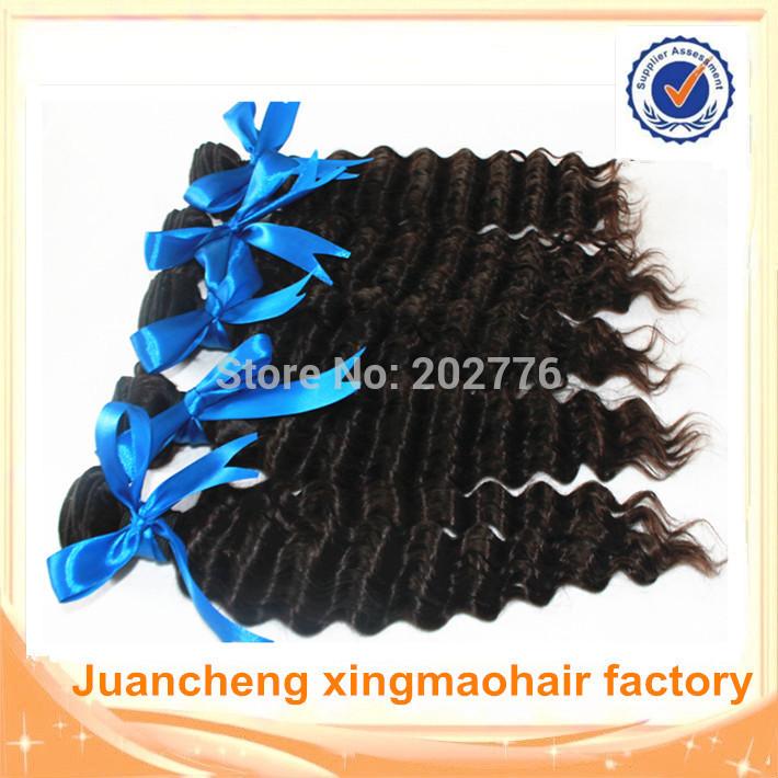 whole sale brazilian hair 10 pcs lot,100%Unprocessed Virgin brazilian hair Weave bundles Deep Wave,100%human hair,Free shipping(China (Mainland))