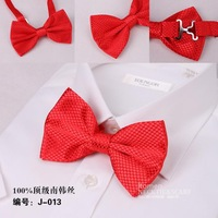 Free Shipping NEW Arrival Red  Mens Bow Tie,Solid color Polyester woven Tuxedo Adjustable Neck Bowtie Bow Tie