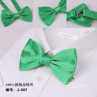 Free Shipping NEW Arrival Green Mens Bow Tie,Solid color Polyester woven Tuxedo Adjustable Neck Bowtie Bow Tie