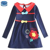 Kids Dress for Girl Nova floral Tutu dress Lovely Bow Baby Girl Princess Dress 100% Cotton Kids Clothes H5733