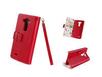 Printing Wallet Flip Card Slots kickstand Leather Case Cover For LG G3