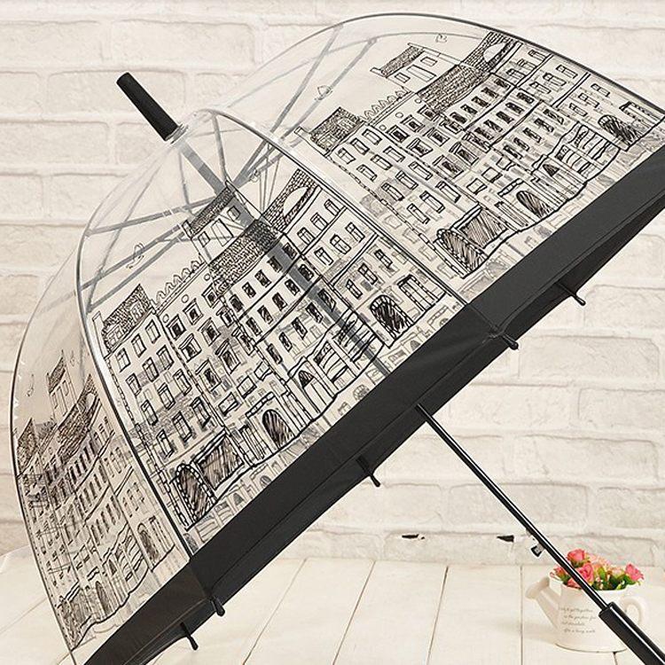 Бренд зонтик прозрачный Creative дождь солнечный женщины девочки дамы новинка элементы длинная рукоятка зонтики