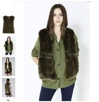 Fashion Topsh p Vintage Faux Fur Waistcoat Vest Design Short Fur Coat 1501141
