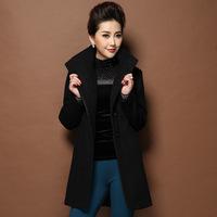 Plus size new Women's coat,Elegant Slim fashion woolen coat lapel Long winter coats Free shipping S9017J