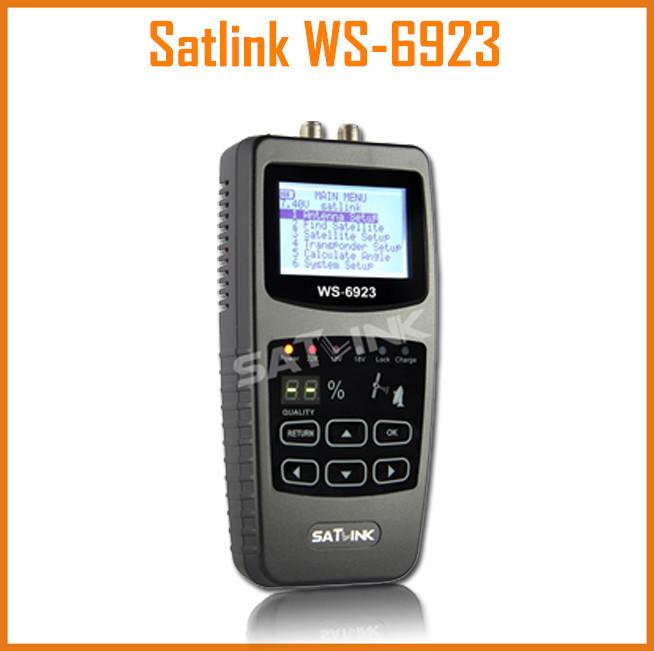 Satlink WS-6923 DVB-S FTA C&KU Band Digital Satellite ws6923 Finder Meter with 2.1 Inch LCD Display Satellite TV Receiver(China (Mainland))