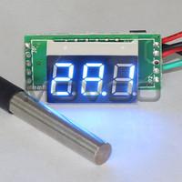 "0.36"" Blue LED Digital Thermometer -55 to 125 Celsius Degree Temperature Meter for Aquarium/Laboratory/chiller and DIY etc"