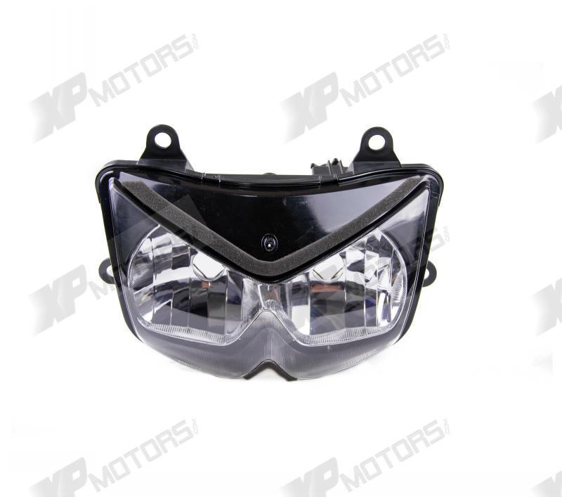 New Motorcycle ABS Plastic Scheinwerfer Lamp Headlight Assembly Kits For Kawasaki KLE500B 2005 2006 2007(China (Mainland))