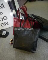 Fashion Women Handbag Crocodile Casual Tote Purse Vintage PU Leather Women Shoulder Bag Leisure Hobo Bags