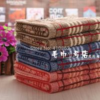 100% pure cotton facecloth Promotion face towel 33*73cm 100g men thick stripe facetowel 3pcs/lot