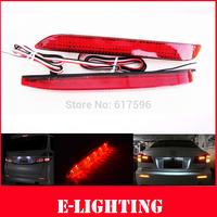 Red Len LED Rear Bumper Reflector add on Tail Brake Stop Light Fit for Toyota Camry Reiz Venza Sienna Matrix Lexus IS F GX470