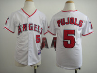 Youth Los Angeles Angels Kids Jerseys #5 Albert Pujols Jerseys Mix Orders,Embroidery Logos jersey