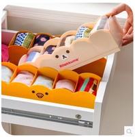 Japanese classification easily bear plastic sock drawer sorting box storage box Desk Organizers
