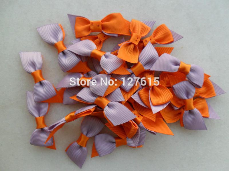 custom hair bows 2 colors grosgrain ribbon flowers handmade bows kids bows accessories 50pcs free shipping(China (Mainland))