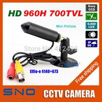 SNO Korea Specialty Sony 960H CCD Effio 700TVL 0.001LUX Small Pinhole Hidden Video Surveillance Bullet Mini CCTV Camera Security