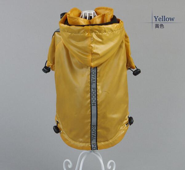 1 PCS/LOT pet dog raincoat doggy jackets pets products puppy costume dogs coat 2 colors size XS S M XL(China (Mainland))