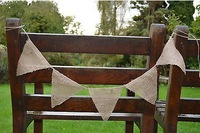 2015 New year Wedding Burlap Bunting Hessian home garland birthday Bunting Photo Props Rustic Vintage Party Decoration(280cm)