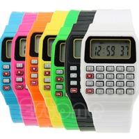 Free Shipping Silicone Date Multi-Purpose Fashion Child Kid Electronic Wrist Calculator Watch