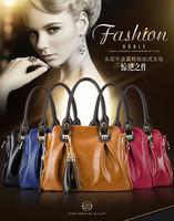 2014 Hot Sale Women handbags PU Shoulder bag Portable Leather tassel Messenger bag Big size OL style handbag Tote Free Shipping