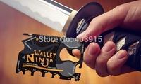 18 tools In 1 Wallet Ninja Pocket Multitool Heat Treated Tool, Outdoor Travel Survival Camping Credit Card Knife