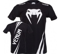 "Venum""Challenger""T-shirt-Black/Ice MMA BOXING cotton  T-shirt"