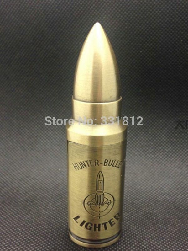 10pcs lot Model metal bullets lighter creative flameless cigar cigarette electric usb lighter