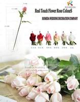 6 Colors Artificial Real Touch Flowers Rose Bridal Bouquet Decorative Flowers Home Xmas party Decor Wedding Decoration 20pcs/lot