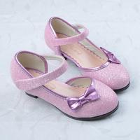 2015 child high-heeled shoes children girls paillette leather heels kids fashion princess wedding party shoes summer sandals