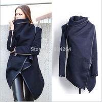 Womens Lady Trench Slim Winter Warm Coat Long Wool Jacket Outwear Parka Overcoat