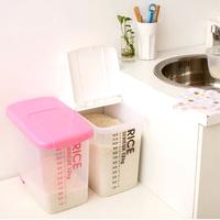 New Creative Transparent Double Wheels Rolling Rice Storage Container Holder Box 12KG Kitchen Storage Organizer
