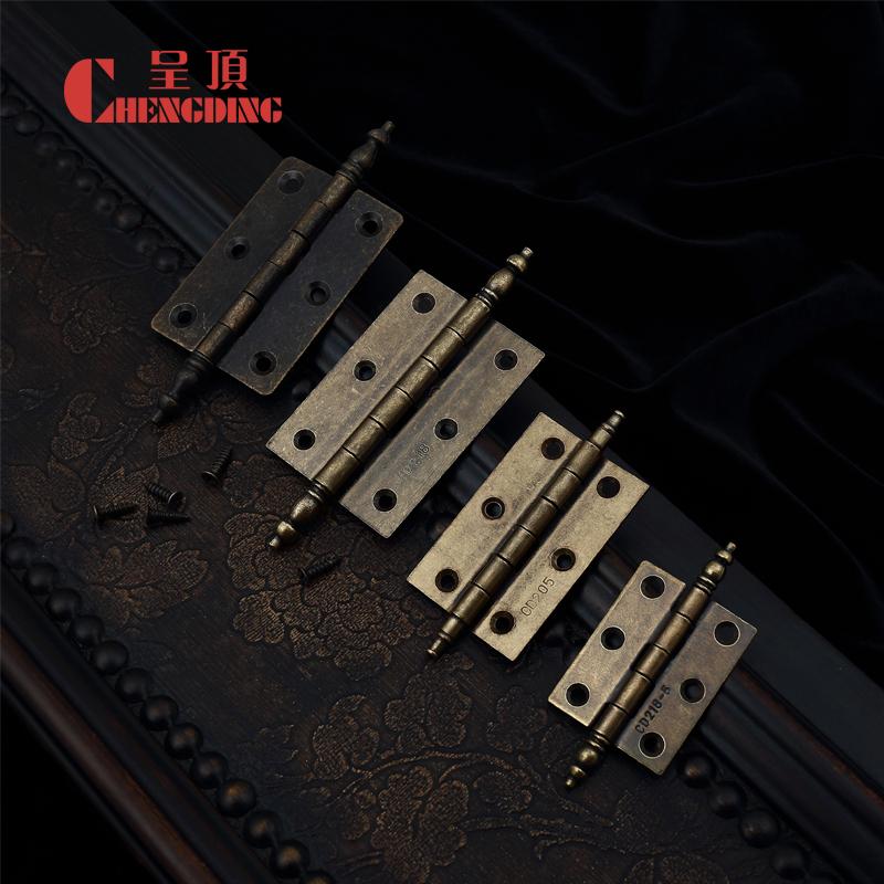 Bronze antique vintage 3-inch 1.5mm thick door hinge CD neoclassical European furniture hardware copper hinge(China (Mainland))