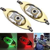 LED Fishing Lure Enhancer Squid Fish Light Flashing Lamp Deep Drop Underwater Eye Shape