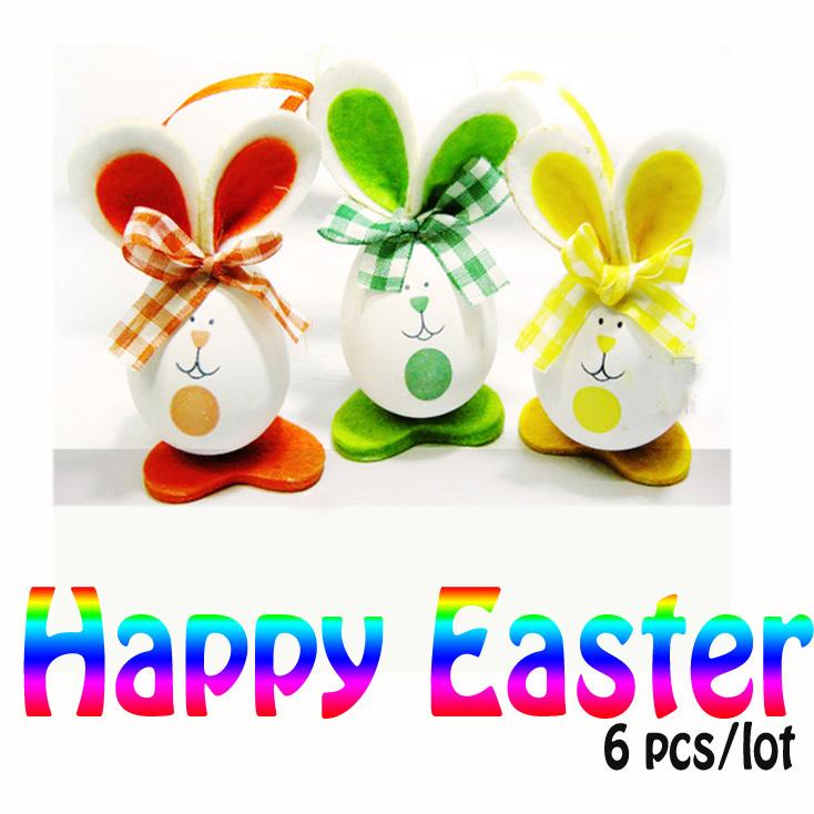 Sevimli paskalya dekorasyon yumurta tavşan parti ev dekor süsler