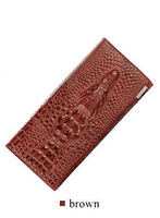 New 100% Genuine good leather brand women wallets 14colors Crocodile 3D purse wholesale fashion leather wallets hot selling