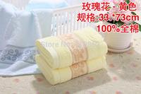 pure cotton facecloth Promotion face towel embroidery cotton towel 33*73cm 90g fruit lovely facetowel 5pcs/lot