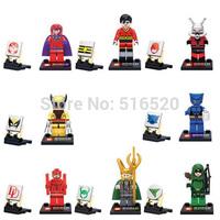 Heroes Assemble Minifigures 8pcs/lot SY259 Loki Beast Magneto ANT-MAN Green Arrow Building Block Sets Brick Toys Lego Compatible