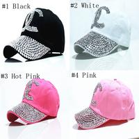Wholesale 2015 New high quality Diamond Point X letters cowboy denim caps women baseball cap girls Hat rhinestone print 5pcs/lot