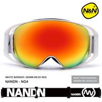 NANDN  Men Women Sports Snowboard Ski Goggles Double-Layer Skiing Goggles Anti-fog wind Large Sphere Ski Eyewear For Myopia NG4