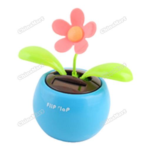 newbie Solar Powered Flip Flap Flower Cool Car Dancing Toys(China (Mainland))