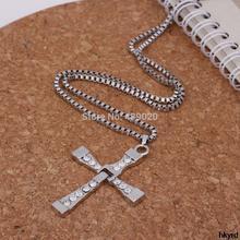 A31 Fast Furious Men s Zinc Alloy Cross Necklace Pendants Like Toledo Rope Chain Fashion Jewelry