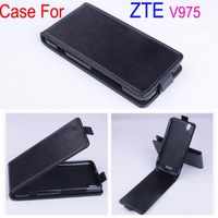 New Arrival Good Quality Flip Leather Case Cover For ZTE Geek V975 Original Case Up and Down Design Free ship
