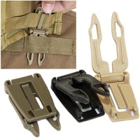 30pcs / lot Outdoor Gear Quick Release Molle Adapter Hook Pouch Connector For Camping Airsoft Hunting