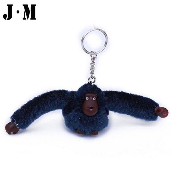 "6.3 * 1.8"" Fashion Cute Plush Monkey Key Chain Kippl Bag Accessories Monkey Decoration Orangutan For Car Key Ring Bag Pendant(China (Mainland))"