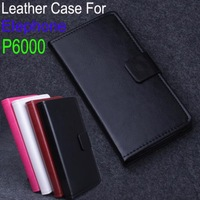 New Arrival Good Quality PU Leather Case Cover For Elephone  P6000 Wallet Design with Credit Card Slots Free ship