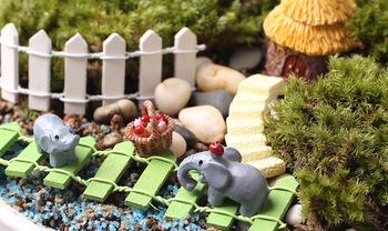 3 шт./компл. животных слон 2.5 * 2 см миниатюры слон волшебный сад гном мосс террариум домашнего декора ремесла бонсай домашнего декора для DIY