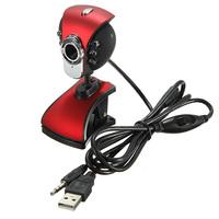 3 pcs/Lot _ USB 50M 6 LED Night Vision Webcam Camera Web Cam With Mic PC Laptop
