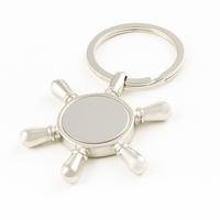 Quality transhipped rudder lovers gift alloy keychain key chain car key ring