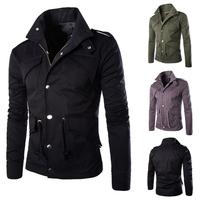 Free shipping 2015 high quality men's jacket fashion elegant coat Sexy Top Designed slim fit casual jacket men plus size M~4XL