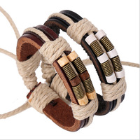 Newest Design Handmade Personalized Leather Bracelet For Children Braided  Bracelets Bangles