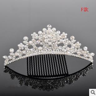 2015 Tiara Bridal Hair Accessories Classic Bride Crown Korean Alloy Set Auger Adorn Article Manufacturers Selling Wholesale -12(China (Mainland))