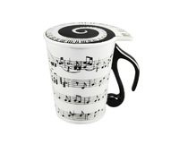 New unique Musical Notes Holds Piano Song Coffee Milk Ceramic Mug Cup Best Gift free ship